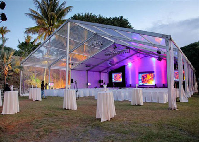Waterproof White PVC Wedding Outdoor Party Tents For 600 People