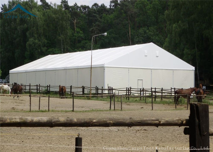Large White Marquee Aluminium Warehouse Tents For Industry PVC Fabric