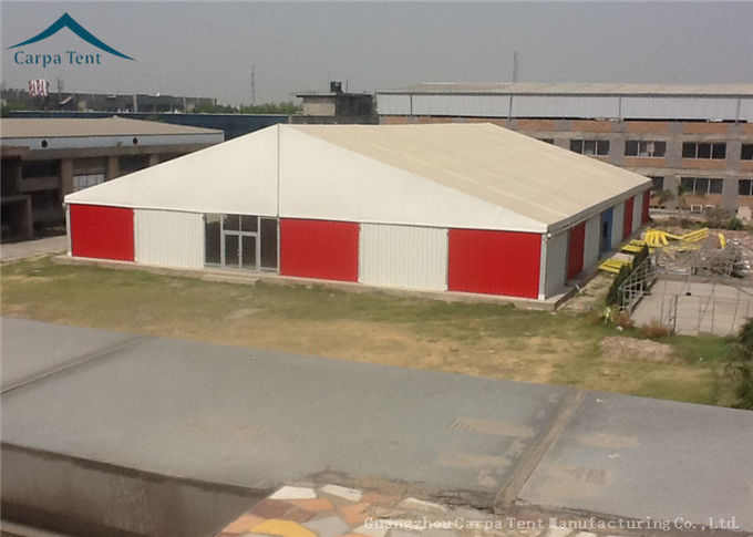 White  Aluminium Frame Warehouse Tent With  Rainproof Large  Canopy Fabric