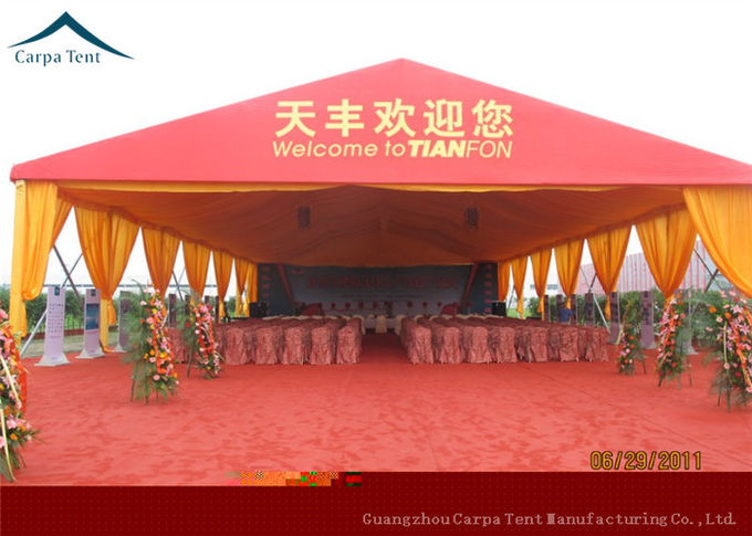 15m  x  20m Large Wedding Tents With Red PVC Wall , Aluminum Structure Tent