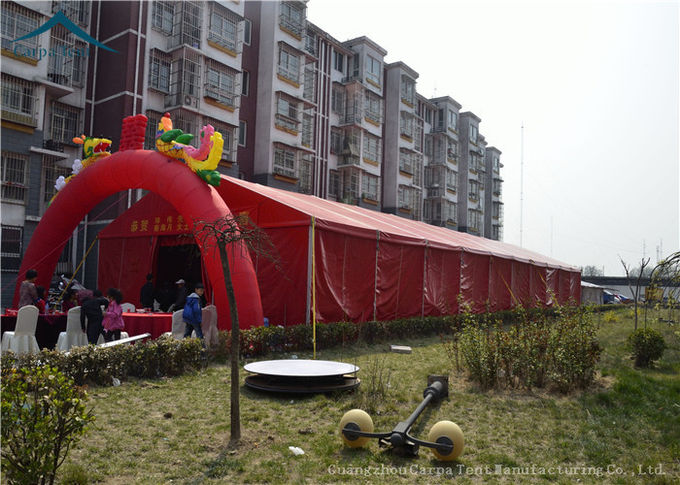 Durable Red Event Tents , Chinese Style Wind Load 100km/h Outdoor Tents , Customized Tent