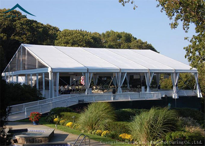 PVC Fabric Outdoor Party Tents Fire Resistant Tents With White Linings