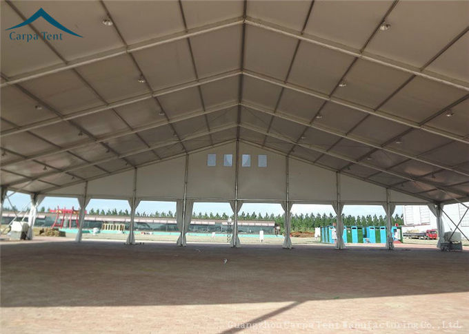 Rain Resistant 20mx50m Clear Span Fabric Structures Large Warehouse