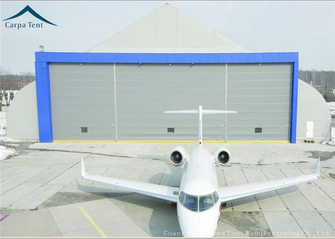 Curved Aluminum  Aircraft Hanger 25m By 40m For Warehouse Wind - Resistant